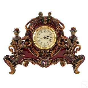 Jay Strongwater Ltd. Ed. Art Nouveau Mantel Clock