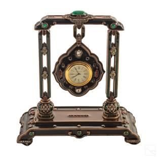 Jay Strongwater Harrison Joaillerie Pendant Clock