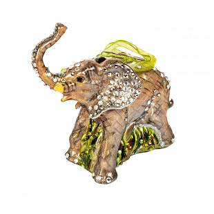 Jay Strongwater Elephant Wildlife Holiday Ornament