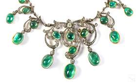 Victorian 100 Carat Emerald Diamond Necklace Tiara