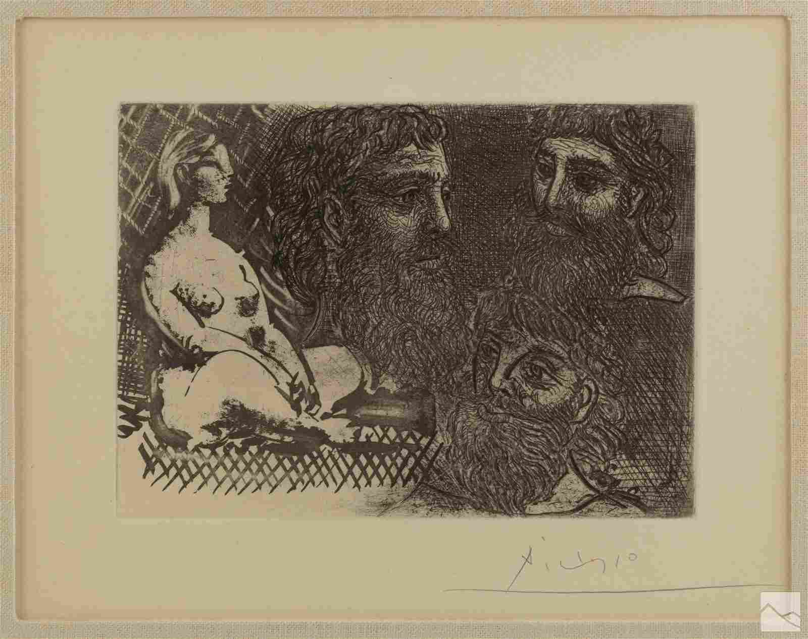 Pablo Picasso 1881-1973 Woman Three Heads Etching