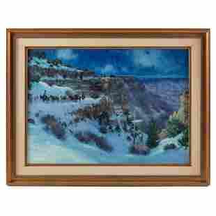 Karl Thomas b.1948 Grand Canyon Landscape Painting
