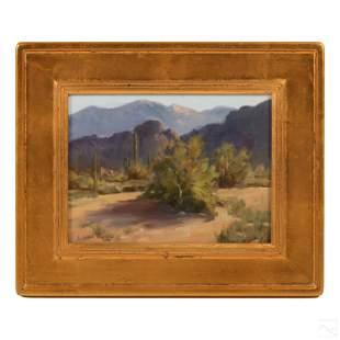 Linda G. Gooch (b. 1956) Desert Landscape Painting