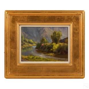 Peter Hagen (b.1944) River Bank Landscape Painting
