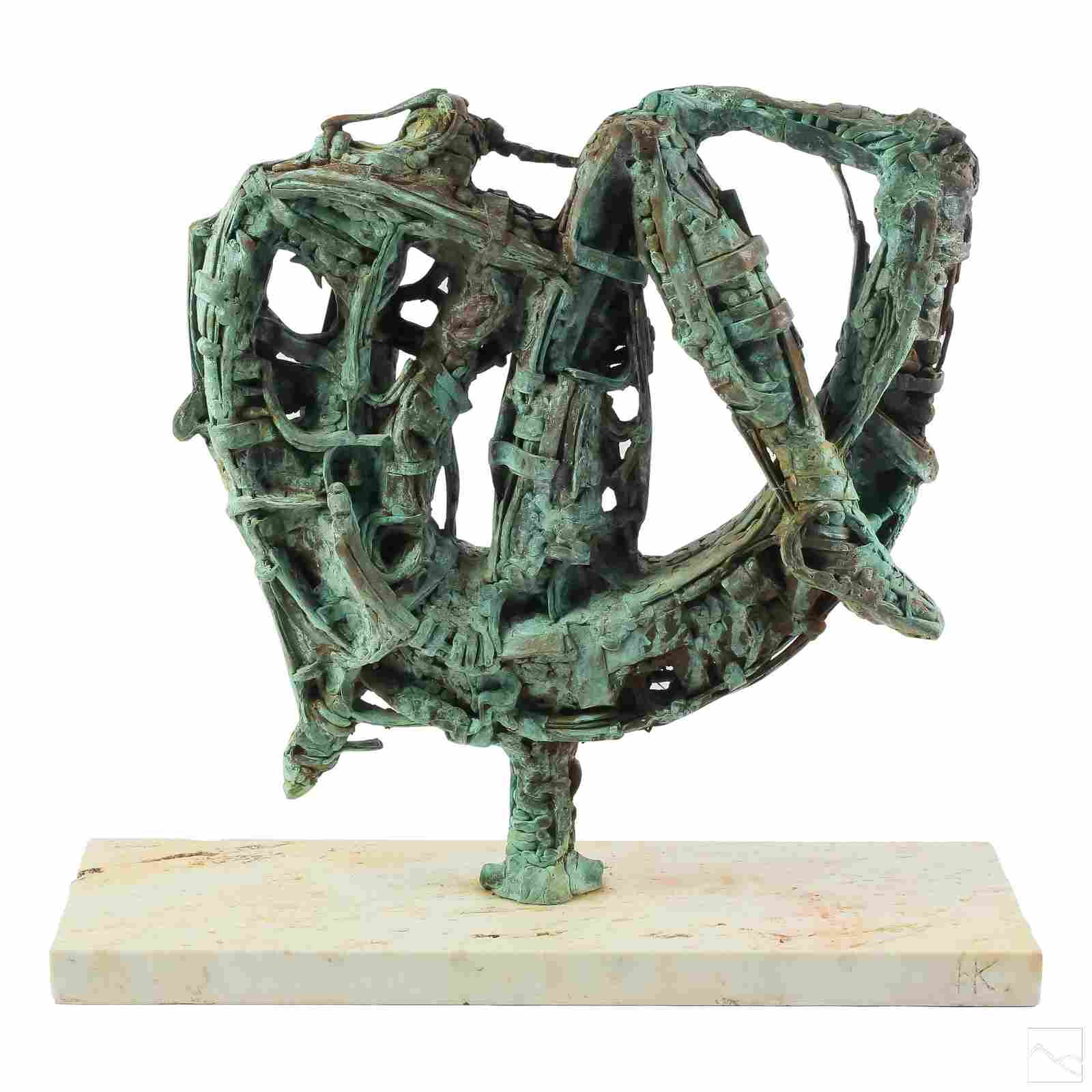 Naum Knop 1917-1993 Abstract Bronze Sculpture
