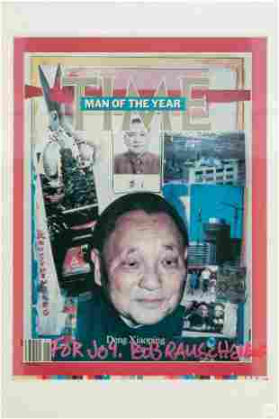 Robert Rauschenberg TIME MAGAZINE COVER P/P Signed