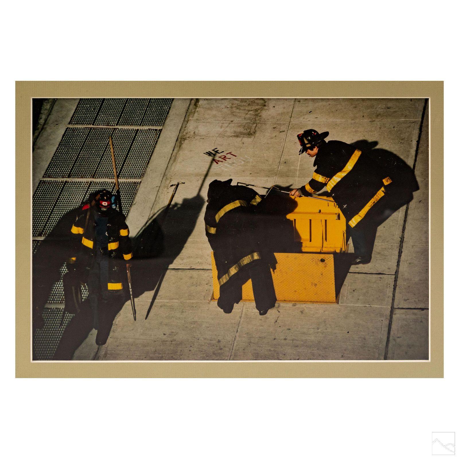 Robert Rauschenberg (1925-2008) NYC Fireman Photo