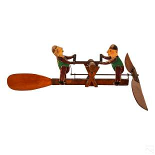 Folk Art Painted Lumberjack Men Windmill Whirligig
