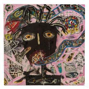 Menno Krant (b.1950) Naive Abstract Snake Painting