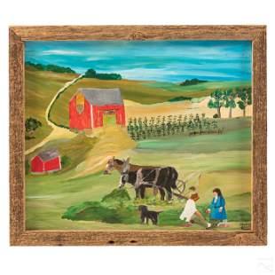 Barbara C Fleming b1939 Canadian Folk Art Painting