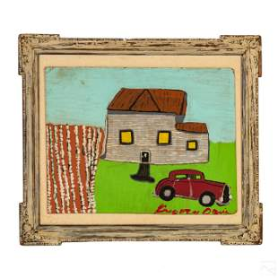 Gregory Davis American Outsider Folk Art Painting