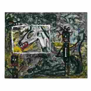 Menno Krant (b.1950) Naive Abstract Art Painting