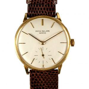 Patek Philippe 18K Gold Ref 3420 Men's Wrist Watch