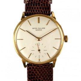 Patek Philippe 18K Gold Ref 3420 Men's Wrist Watch