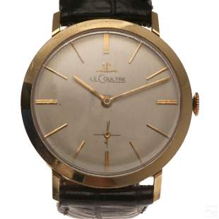 LeCoultre 14K Yellow Gold Working Mens Wrist Watch