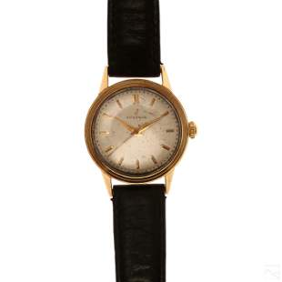 Juvenia 14K Solid Gold Vintage Working Men's Watch