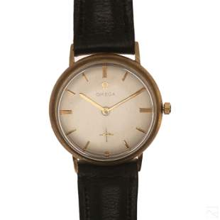 Omega Vintage 14K Gold 17 Jewel Men's Wrist Watch