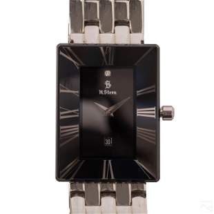 H. Stern Sapphire and Stainless Steel Tank Watch