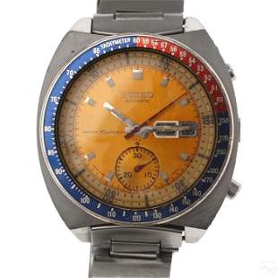 Seiko Automatic Chronograph Wrist Watch 6139-6005