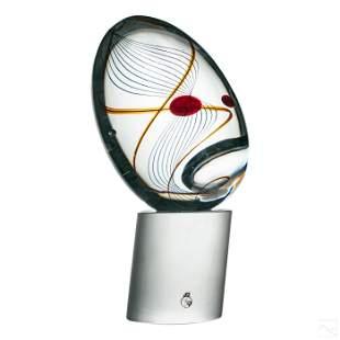 Murano Livio Seguso Modern Art Glass Egg Sculpture