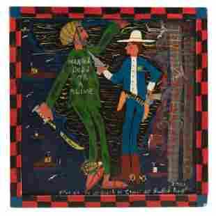 Bradford Naugler (b.1948) Naive Folk Art Painting
