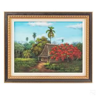 Armando Mejias (b. 1963) Cuban Landscape Painting