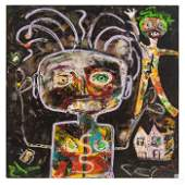 Menno Krant (b1950) Abstract Outsider Art Painting