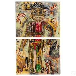Menno Krant (b1950) Abstract Outsider Art Painting
