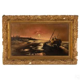 South Pacific Polynesian Antique Seascape Painting