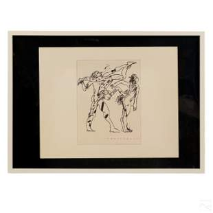 Harry Bertschmann (b.1931) Abstract Ink Drawing