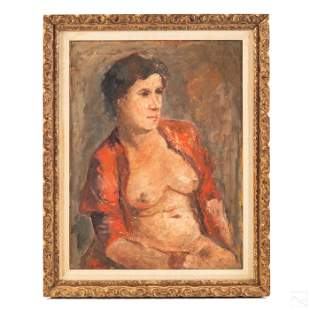 Female Nude Portrait Painting after Chaim Soutine