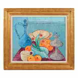 Henri Calixte 1933-2010 Haiti Still Life Painting
