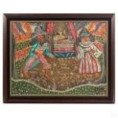 Andre Pierre Haitian Vodou Loas Folk Art Painting