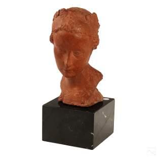 Jean Osouf (1898-1996) Terracotta Bust Head Statue