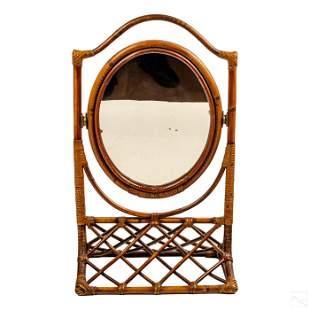 "Victorian 23"" Bamboo Tilting Dresser Table Mirror"