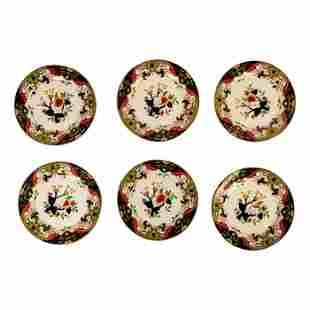 "Royal Doulton Antique Matsumai China Plates Set 8"""