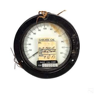 NASA Apollo 1960s Lunar Module Degrees F Indicator