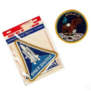 NASA Kennedy Space Center Apollo II 1980s Patches