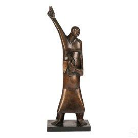Sydney A Kumalo 1935-1988 St Francis Modernist Bronze