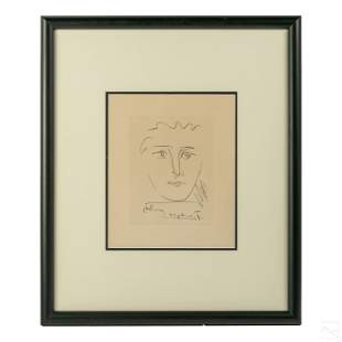 """Pablo Picasso 1881-1973 """"Pour Roby"""" Etching Litho"""