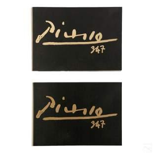 "Picasso ""347 Suite"" 1st Ed. Volume I & II Book Set"