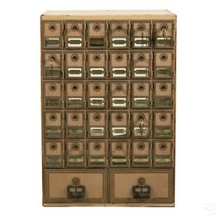 Art Deco Luxury Hotel Enamel Postal Mailbox Sorter