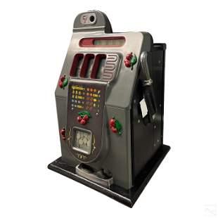Mills Art Deco Black Cherry Nickel Slots Machine