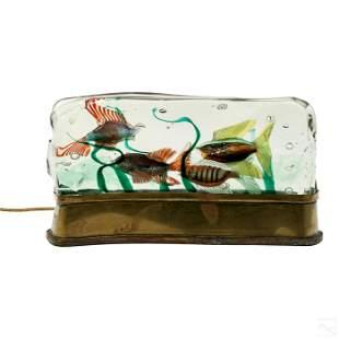 Murano Alfredo Barbini Glass Aquarium Sculpture