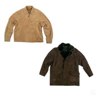 Ermenegildo Zegna Jacket & Laps Leather Coat Group