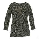 Chanel Boutique Long Sleeve Wool Knit Dress S36