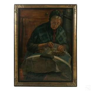 Emile Thysebaert (1873-1963) Portrait Oil Painting