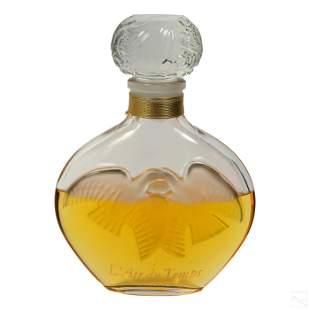 """Nina Ricci L'Air Du Temps 13"""" Glass Factice Bottle"""