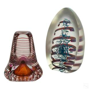 Studio Art Glass Fire Island Paperweights Group