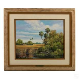 D. Starbuck Florida Wetlands Landscape Painting